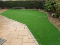 Replacemenmt lawn with Grono artificial turf.