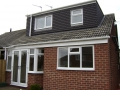 Bungalow dorma extension after the work is complete