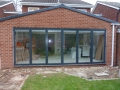 Extension with large glass wall.